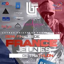 1/2 FINALE DES CHAMPIONNATS DE FRANCE DE TRIATHLON JEUNES 2018