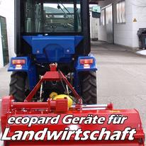 ecopard Kleintraktor Anbaugeräte für die Landwirtschaft (Schwader, Grubber, Balkenmäher, Katoffelroder)