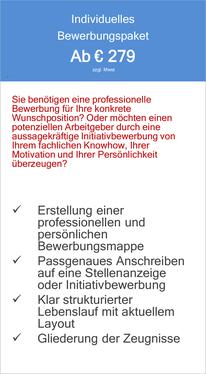 Individuelles Bewerbungspaket - Erstellung einer professionellen und persönlichen Bewerbungsmappe