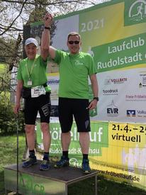 Rainer war mit Roberto auf der 8 km Strecke. Zeit: 1:02 Respekt!