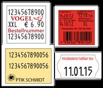 Handauszeichner Etiketten für die Industrie passend für contact, Meto, Blitz und Sato