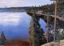 Einer der abertausend Seen, wo Väinämöinen, der Freund der Wogen, zu Hause ist.