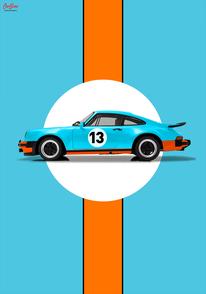 Porsche Gulf Poster