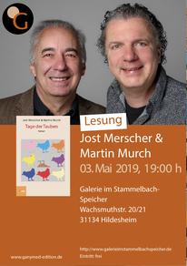 """03.05.2019: Merscher & Murch lesen """"Tage der Tauben"""" in Hildesheim"""