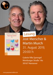 """31. August, Hannover: Jost Merscher & Martin Murch lesen """"Tage der Tauben"""""""