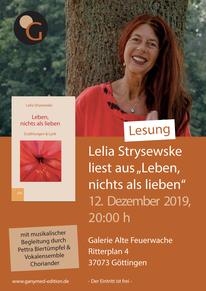12.12.2019: Buchvorstellung mit Lelia Strysewske in Göttingen
