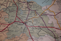 Railway map, The Netherlands 1909, I. Bremer, Amsterdam, 3:800.000. Personal property.