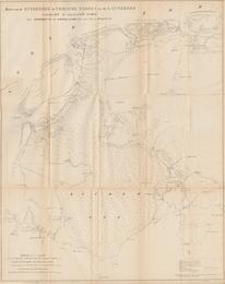 Kaart van de Zuiderzee, de Vriesche Wadden en de Lauwerzee, aanwijzende de voorgestelde werken tot bedijking en drooglegging van deze boezems,  B.P.G van Diggelen, 1:250.000, (Zwolle, 1849). Universiteit Utrecht.