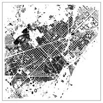 Schwarzplan Barcelona