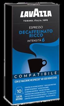 Lavazza Decaffeinato Ricco compatibile Nespresso
