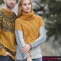 Laine Katia Merino Tweed Modèle N°6091-2