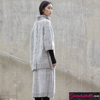 Laine-Katia-Cotton-Merino-Tweed-Modèle N°6185-1