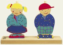 Puzzle vertical Arthur et Marie - 8 pièces