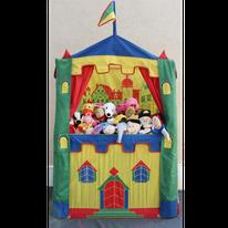 Théâtre en bois et ses marionnettes