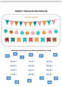 Series y tablas de multiplicar