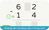Restas de números de 2 cifras (llevadas sumando) (SEGUNDO)