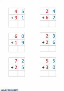 Sumas de dos cifras sin llevadas