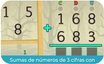 Sumas de números de 3 cifras con llevadas 1 (SEGUNDO)