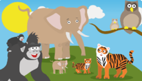 Learning zoo: Animales bebés 1
