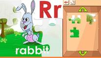 Rompecabezas: letras p, q, r, s