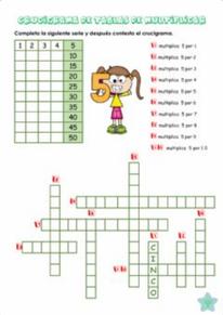 Crucigrama tablas del 5,6 y 7