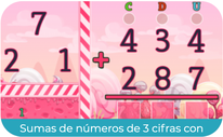 Sumas de números de 3 cifras con llevadas  2 (SEGUNDO)