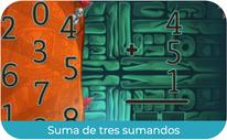 Suma de tres sumandos (PRIMERO)