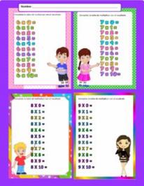 Tablas de multiplicar del 6 al 9