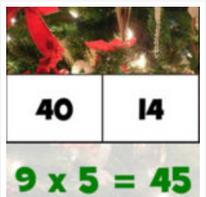 Tablas de Multiplicar en Navidad