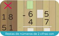 Restas de números de 2 cifras (llevadas restando) (SEGUNDO