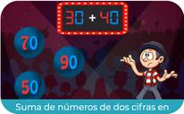 Suma de números de dos cifras en horizontal 2 (PRIMERO)
