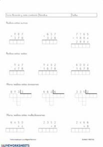 Cálculo de las cuatro operaciones