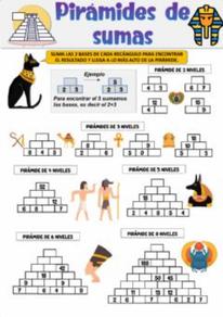 Pirámides de sumas