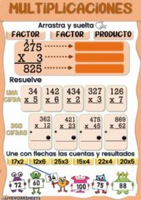 Multiplicaciones de 1 y 2 cifras