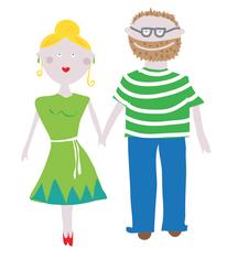 """Illustration zur Hochzeit """"Nina und Henry"""""""