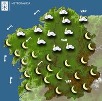 Previsión meteorológica para la noche del 23/01/2019.