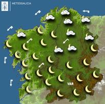 Previsión meteorológica para la noche del 18/08/2019.