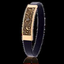 Armband mit Karten-Motiv in Rotgold und einen schwarzen Diamanten von der Goldschmiede OBSESSION in Wetzikon und Zürich