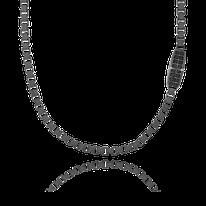 Herrencollier in geschwärztem Silber aus der Matrix Kollektion der Goldchmiede OBSESSION