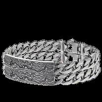 Armband in geschwärztem Silber aus der Schatzkarten Kollektion der Goldschmiede OBSESSION