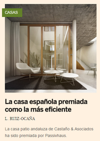 Una obra española gana el máximo galardón como casa eficiente.