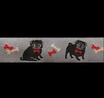 Band 48 -  Mops Hund grau by Ribbon Adorable Pug Jessica Jones