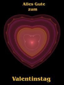 #Herz als #Valentinstag Karte #Waldviertel #Kreativ