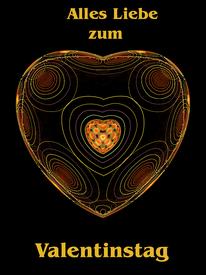 Herz als Valentinstag Karte Waldviertel-Kreativ & Atelier Traeume aus Glas