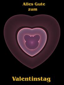 Herz als Valentinstag Karte #Waldviertel #Kreativ #Traeume aus #Glas
