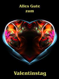 Herz als Valentinstag Karte #Waldviertel #Kreativ