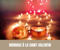 Mariage à la Saint-Valentin