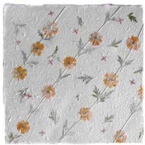 Cottonpaper mit Blüten, Goldpapier und weitere hochwertige Bastelpapiere