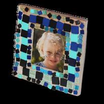 Mosaik-Bilderrahmen selber machen
