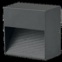 LUMINARIO CORTESIA LED, NEGRO, EMPOTRAR, 3W, 100-240Vca, IP54, 6000K, 85x85x50mm, MODELO DL-ADE-401